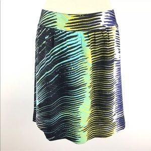 LOFT Skirt Printed Straight Above Knee Size 10